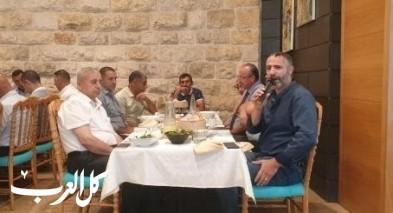 ادارة بنك هبوعليم تلتقي مع مجموعة من رجال الاعمال
