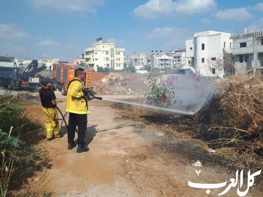كفرقاسم: اندلاع حريق في منطقة أشواك قريبة من المنازل