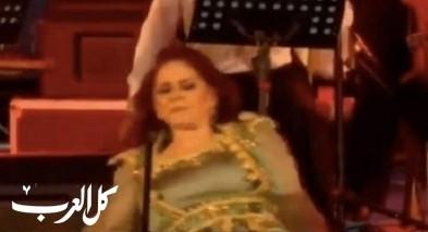 فيديو: ميادة الحناوي تسقط على المسرح