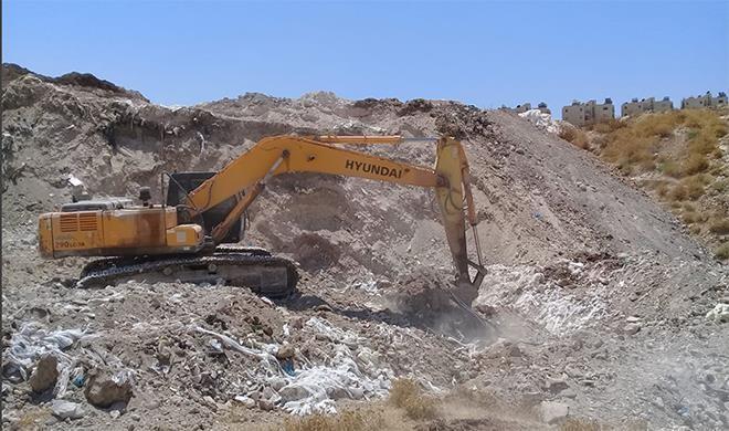 الإدارة المدنية أنهت أعمال تصليح خط المياه الرئيسي