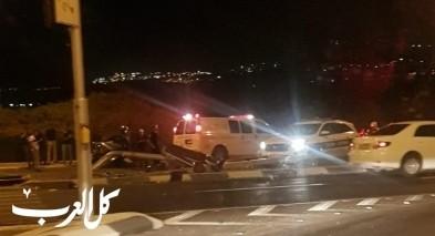 اصابات بحادث طرق على مفرق اكسال