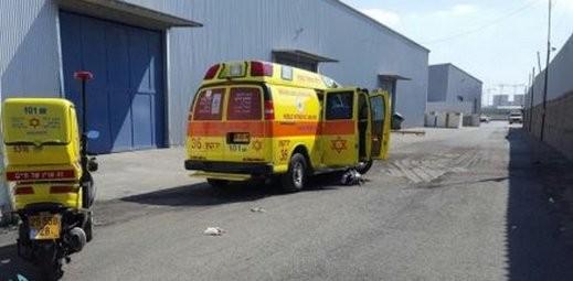 كفرقاسم: إصابة عامل بالمنطقة الصناعية وحالته حرجة