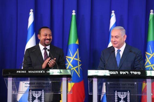 نتنياهو يستقبل رئيس الوزراء الإثيوبي