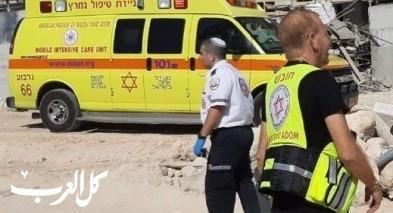 سقوط عامل عن ارتفاع في ورشة بناء في حريش