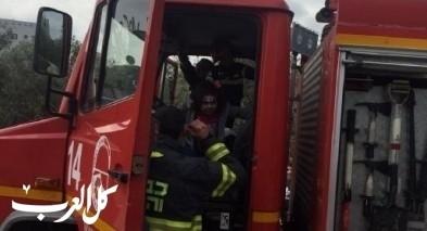 اندلاع حريق في مجمع تجاري في ريشون لتسيون
