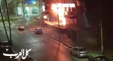 عكّا: إندلاع حريق داخل محل تجاري