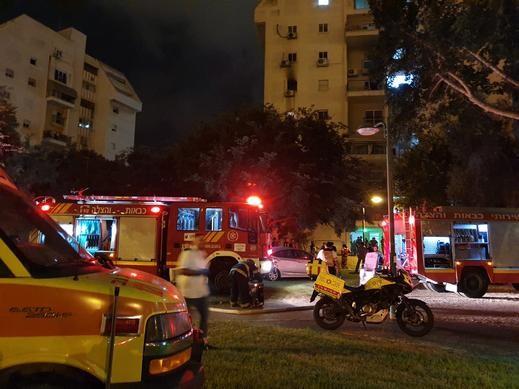 أشكلون:5 إصابات بينها خطيرة جراء إندلاع حريق بمبنى