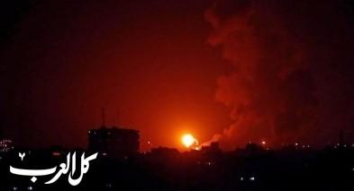 الجيش الاسرائيلي يقصف 15 موقعًا في قطاع غزة