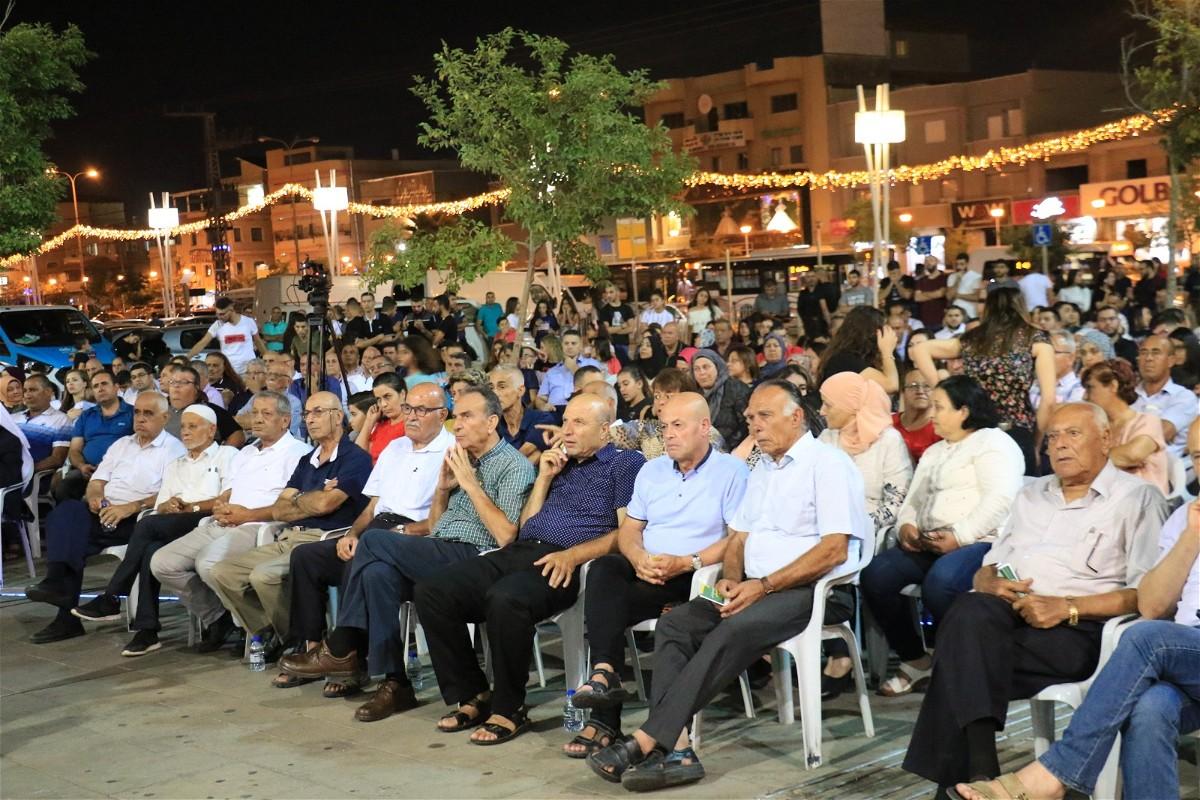 مهرجان انتخابي حاشد للقائمة المشتركة في سخنين