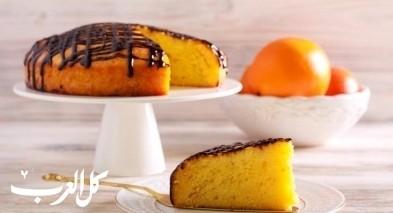 طريقة تحضير كعكة البرتقال الاسفنجية