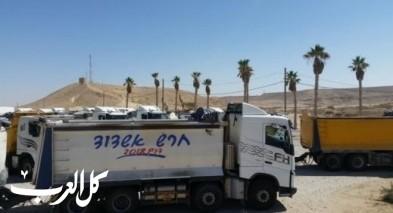 سائقو الشاحنات يعلنون عن إضرب في النقب