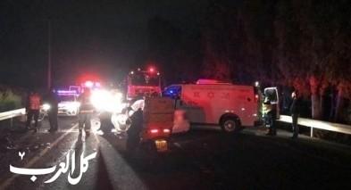 إصابات بحادث طرق قرب مفرق عميعاد