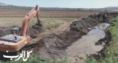 تنظيف وتسوية وادي البيرة بين دبورية واكسال