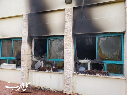 بسمة طبعون:مجهولون يضرمون النيران بمدرسة وروضة