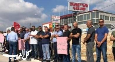 وقفة على مفرق بلدة نحف إحتجاجا على العنف