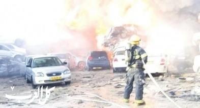 اندلاع حريق في مخزن سيارات بمنطقة أريحا
