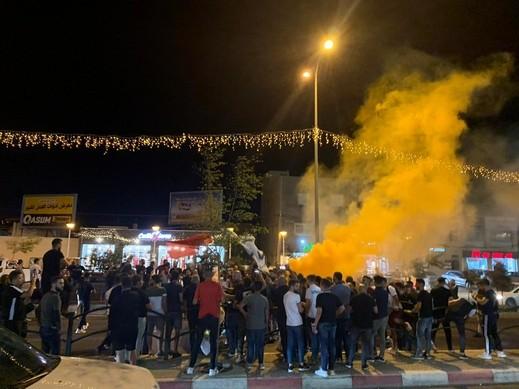 مظاهرة لرابطة مشجعي ابناء سخنين للمطالبة بإستقالة الإدارة