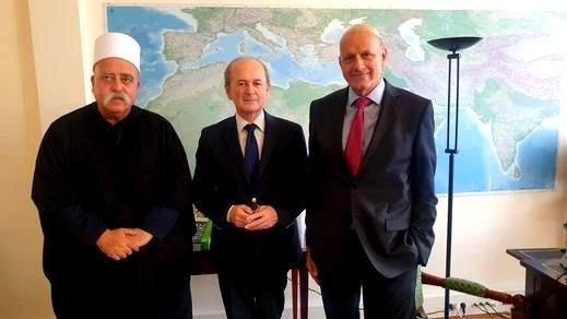 فضيلة الشيخ موفق طريف يحلّ ضيفًا في قصر الإليزيه في باريس