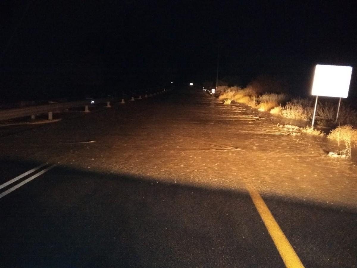 اغلاق شارع 40 بالجنوب بعد الفيضانات والسيول