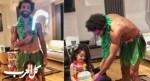 إطلالة جريئة لصلاح خلال إحتفاله بعيد ميلاد إبنته