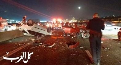 اصابات متفاوتة جرّاء حادث طرق مروّع على شارع 85 بالقرب من دير الأسد