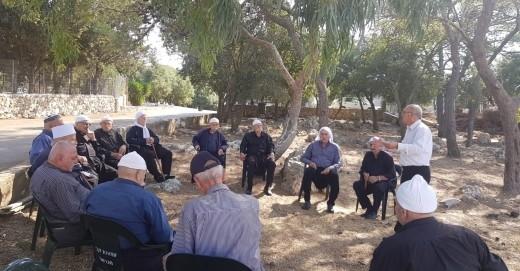 مركز الإثراء عسفيا في جولة مع المسنين في جبل الكرمل