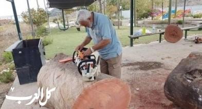 مجد الكروم: إنطلاق مهرجان النحت على الخشب