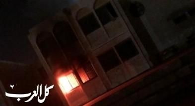 اندلاع حريق داخل مدرسة في تل السبع