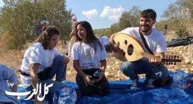جمعية انماء من الناصرة في عمل تطوعي في العونة
