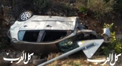 إصابة شابة بحادث طرق مروع قرب جث