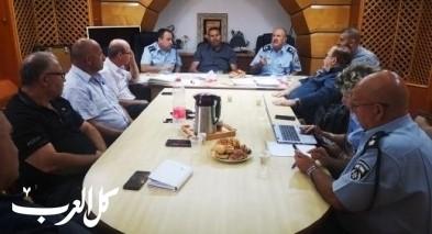 ضباط بزيارة لمجلس يافة الناصرة المحلي