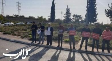 مظاهرة ضد ماساة حركة السير الكثيفة من كفركنا