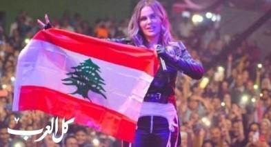 نيكول سابا تحيي حفلا في مصر وترفع العلم اللبناني