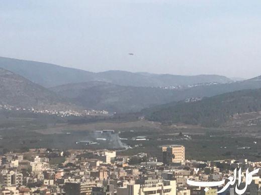 سخنين: طائرات إطفاء تعمل على اخماد حريق بالمل