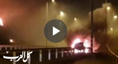 اندلاع حريق بالقرب من احد الفنادق في طبريا