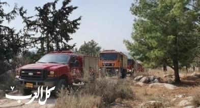 اندلاع حريقين في بيت جن وقرب طمرة