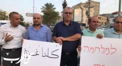 سخنين: تظاهرة تنديدا بالعدوان على غزة