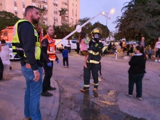 اندلاع حريق بمبنى سكني في نتانيا