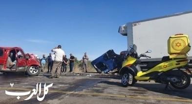 إصابتان بينها خطيرة جرّاء حادث طرق قرب اللد