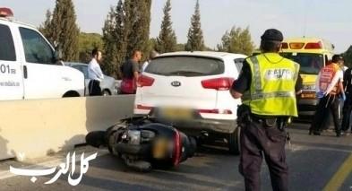 حادث طرق قرب كفرياسيف يسفر عن اصابة شخصين بجراح