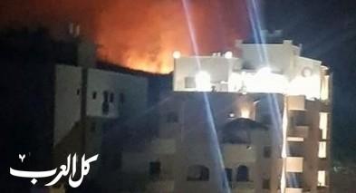 شفاعمرو: اندلاع حريق هائل قرب المنازل بحي ابو شهاب