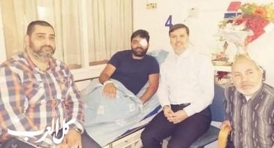 سمير سعدي يزور الصحفي معاذ عمارنة