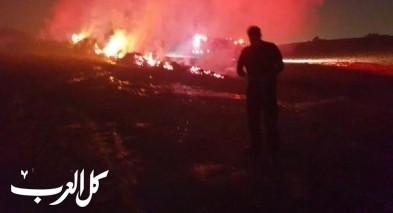 اندلاع حريق في منطقة حرشية قرب بسمة طبعون