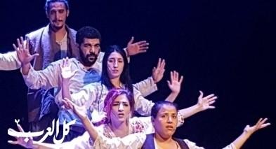"""أهالي الناصرة يتابعون مسرحية """"صدى 1"""""""