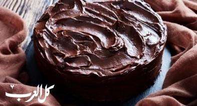 طريقة تحضير كيكة الشوكولاتة البسيطة