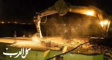 الجيش الإسرائيلي يهدم منازل في بيت كاحل قرب الخليل