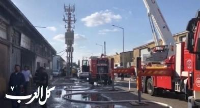 نوف هجليل: حريق هائل يشب في كراج سيارات