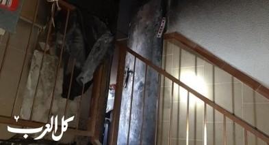 عكا: اندلاع حريق بعمارة سكنية وإصابة 5 اشخاص