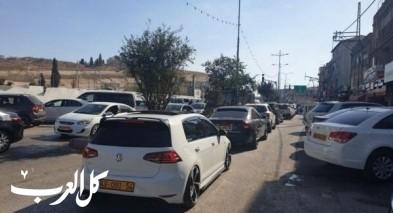 إزدحامات مرورية خانقة تسود مدينة الناصرة