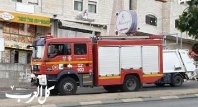 إندلاع حريق بشاحنة محملة بمواد خطرة على شارع 6 للجنوب